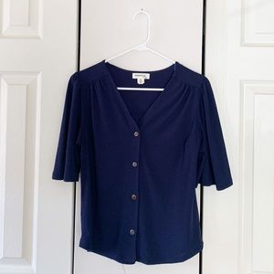 Navy blue business casual top